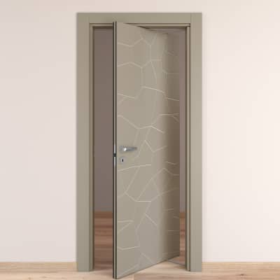 Porta da interno rototraslante The Thing grigio 70 x H 210 cm dx