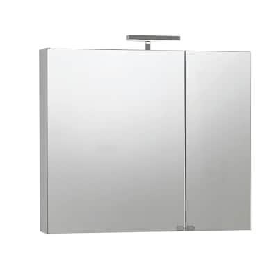 Armadietto a specchio giada l 81 x h 70 x p 15 cm bianco lucido prezzi e offerte online leroy - Specchio leroy merlin ...