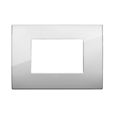 Placca 3 moduli Vimar Arké argento