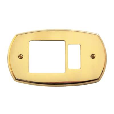 Placca 1 modulo CAL Magic ottone lucido