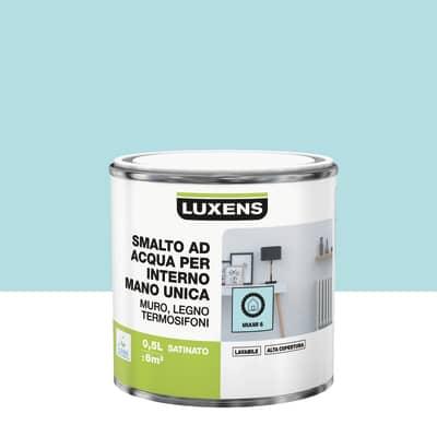 Smalto manounica Luxens all'acqua Blu Miami 6 satinato 0.5 L
