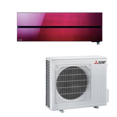 Climatizzatore fisso inverter monosplit Mitsubishi LN 18000 BTU classe A+++ rosso