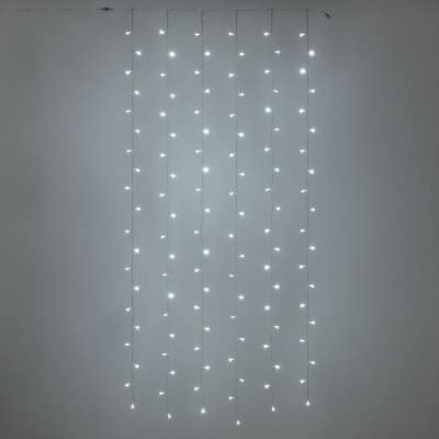Tenda luminosa 120 minilucciole Led bianca fredda 5 m