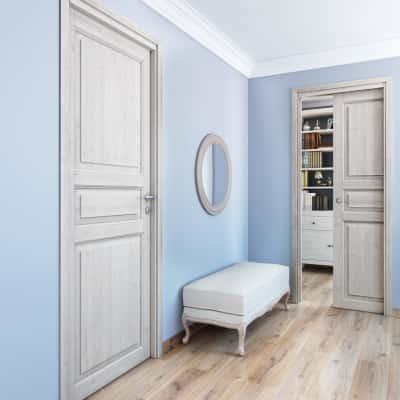 Porta da interno battente Beethoven white 80 x H 210 cm reversibile