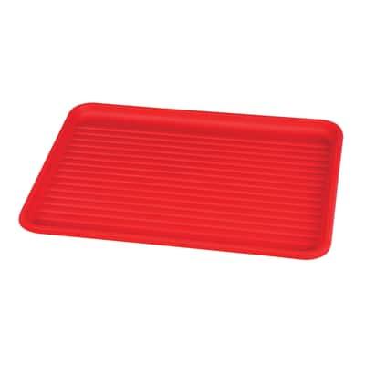 Vassoio rosso L 32,5 x P 43,5 x H 2 cm