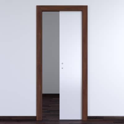 Porta da interno scorrevole One bianca/brown 90 x H 210 cm ...