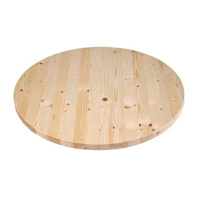 Piano tavolo tondo legno Ø 120 cm grezzo