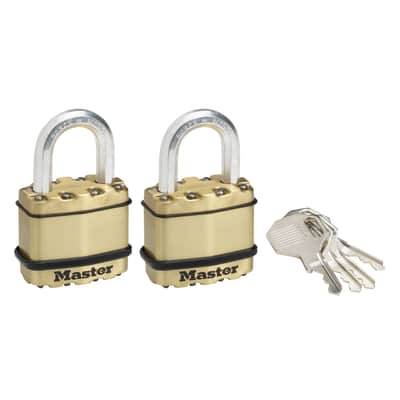 2 luchetti rettangolari a chiave arco standard 45 mm