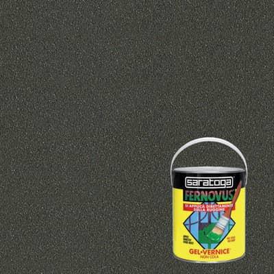 Smalto per ferro antiruggine Saratoga Fernovus grigio forgia metallizzato 2,5 L