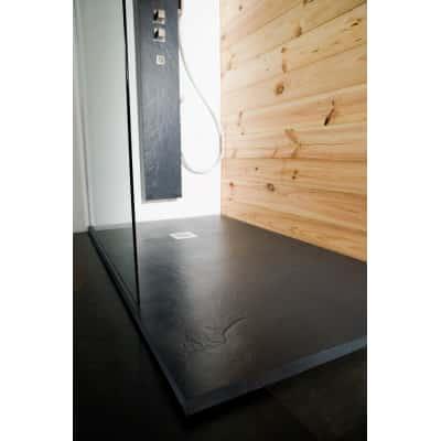 Piatto doccia resina Pizarra 110 x 80 cm antracite