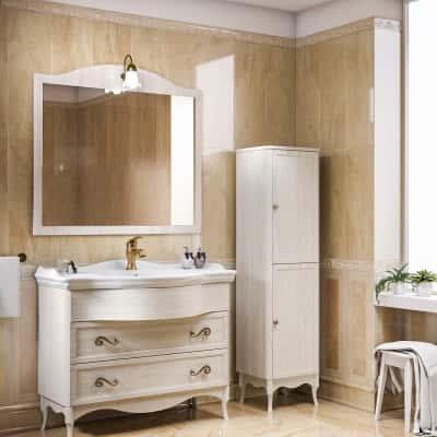 Mobile bagno giotto bianco l 104 cm prezzi e offerte for Arredo bagno leroy merlin