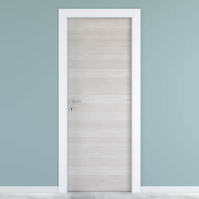 Porta da interno battente One ecru/white 70 x H 210 cm reversibile