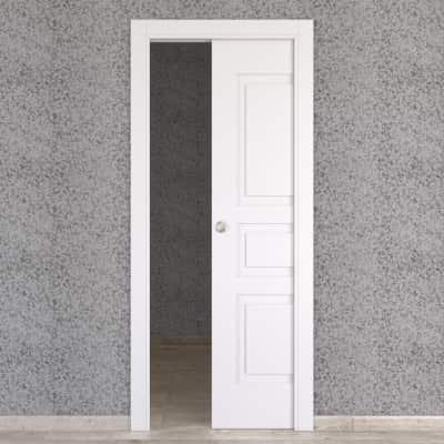 Porta da interno scorrevole Alioth bianco 80 x H 210 cm reversibile