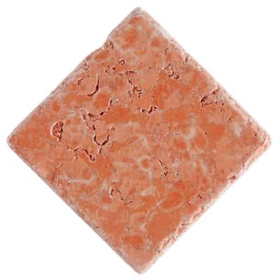 Piastrella Marmo Verona 10 x 10 cm rosso