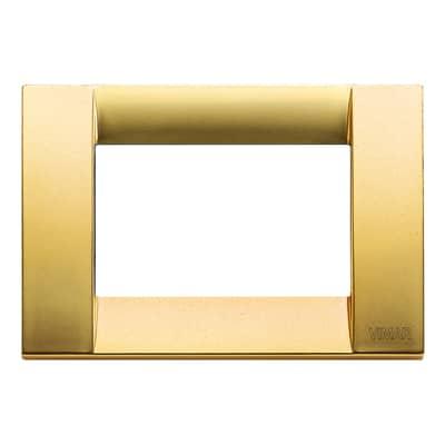Placca 3 moduli Vimar Idea oro opaco