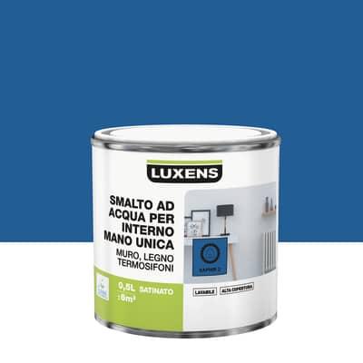 Smalto manounica Luxens all'acqua Blu Zaffiro 2 satinato 0.5 L
