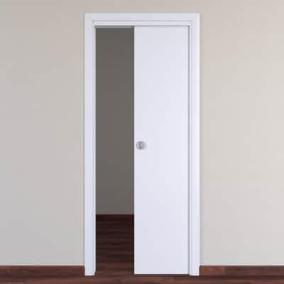 Porta da interno scorrevole Pearl bianco 90 x H 210 cm reversibile