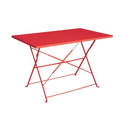 Tavolo pieghevole Color, 110 x 70 cm rosso