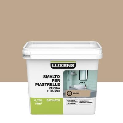 Smalto Per piastrelle Luxens Marrone Moka 5 satinato 0,75 L