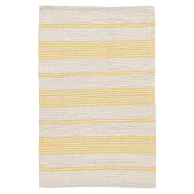 Tappeto Cotone bay stripe giallo 140 x 200 cm