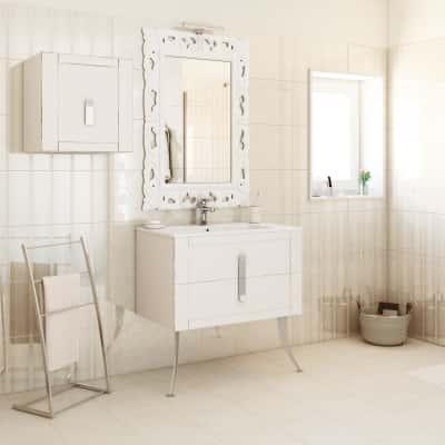 Mobile bagno barocco bianco vintage l 85 cm prezzi e offerte online leroy merlin - Mobile bagno barocco ...