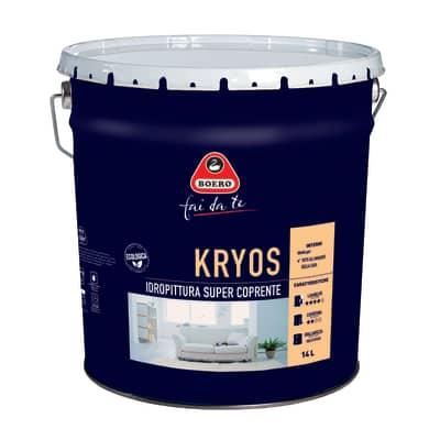 Idropittura lavabile bianca Boero Kryos 14 L