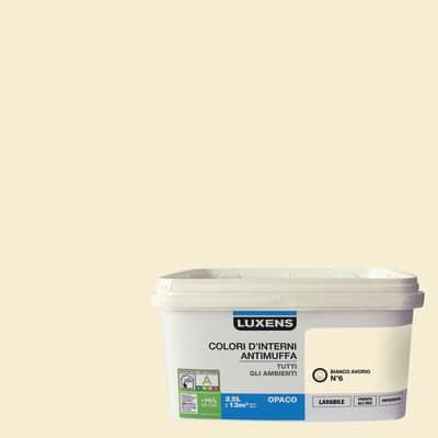 Idropittura lavabile Antimuffa Bianco Avorio 6 2,5 L Luxens