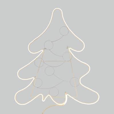 Decorazione luminosa albero di Natale 600 Led classica gialla 1,5 m