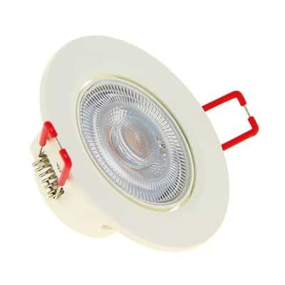 Faretto da incasso Click bianco LED integrato orientabile rotondo Ø 8,6 cm 6,5 W = 450 Lumen luce CCT (colour changing temperature)