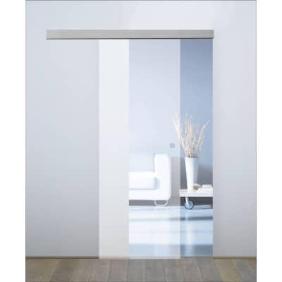 Porta da interno scorrevole orlando satinato 86 x h 215 cm reversibile prezzi e offerte online - Porte interno leroy merlin ...