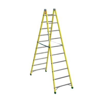 Scala doppia alluminio Facal 10 gradini, per lavori fino a 4 m