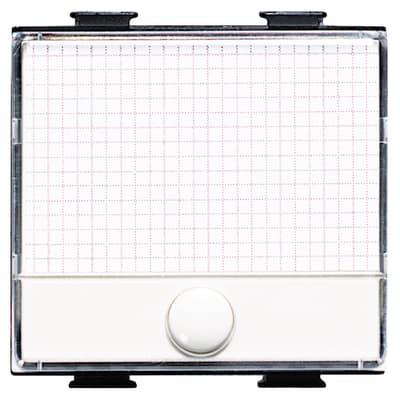 Pulsante con targhetta portanome Illuminabile BTicino Matix bianco
