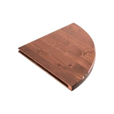 Mensola angolare Arte povera noce L 35 x P 35, sp 2,4 cm