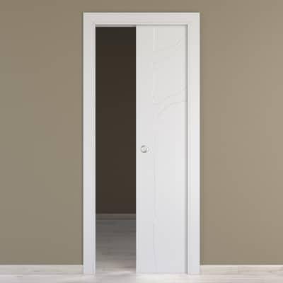 Porta da interno scorrevole Wild bianco 60 x H 210 cm reversibile