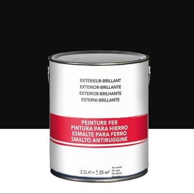 Smalto per ferro antiruggine nero brillante 2,5 L