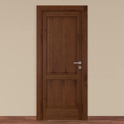 Porta da interno battente Canova rovere noce 70 x H 210 cm sx