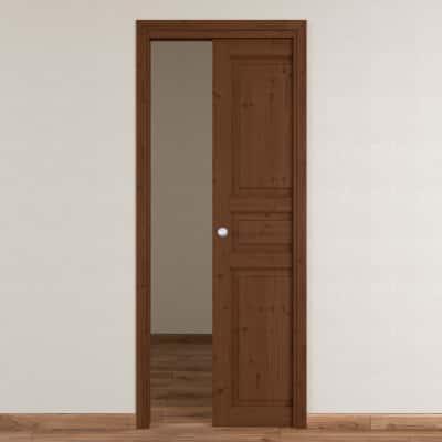Porta da interno scorrevole Beethoven brown chocolate 70 x H 210 cm reversibile
