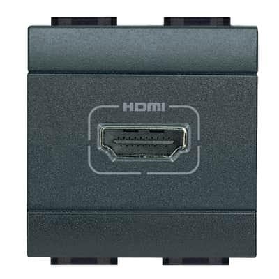 Presa HDMI BTicino Livinglight antracite