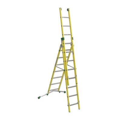 Scala sfilo alluminio Facal 7+8+8 gradini, per lavori fino a 6,5 m