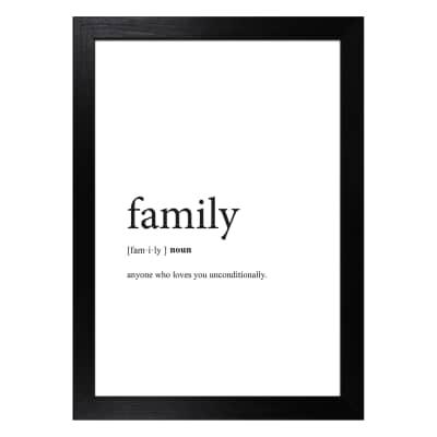 Stampa incorniciata Family 13 x 18 cm