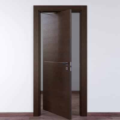Porta da interno rototraslante Wright Fumo 70 x H 210 cm sx