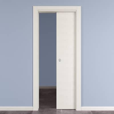 Porta da interno scorrevole Star vetro bianco matrix 80 x H 210 cm reversibile