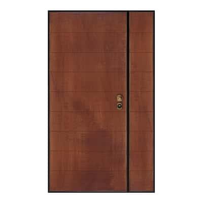 Porta blindata Big 2 ante noce L 120 x H 210 cm dx prezzi e offerte ...