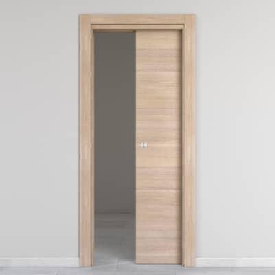 Porta da interno scorrevole Ritz Rosa del deserto 80 x H 210 cm reversibile