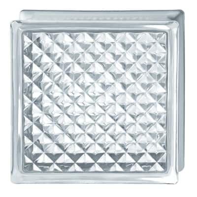 Vetromattone trasparente intrecciato 19 x 19 x 8 cm