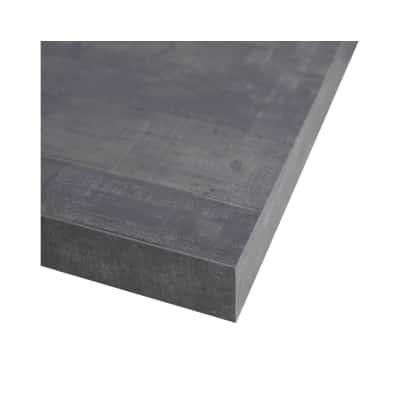 Alzatina su misura Kaos alluminio grigio H 3 cm