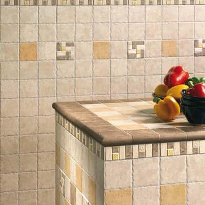 Piastrella Perù 10 x 10 cm beige prezzi e offerte online | Leroy Merlin