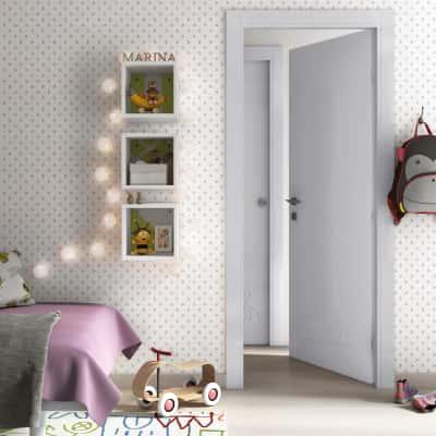 Porta da interno battente Dwarf silk 80 x H 210 cm dx