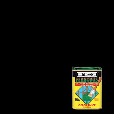 Smalto per ferro antiruggine Saratoga Fernovus nero opaco 0,75 L