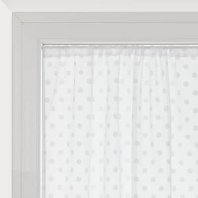 Tendina a vetro per finestra Elsa bianco 100 x 150 cm